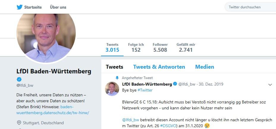 Dürfen Behörden in Baden-Württemberg bald nicht mehr twittern?
